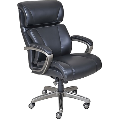 La Z Boy Nexus Leather Executive fice Chair Fixed Arms Black