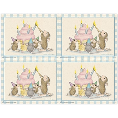 MAP Brand House-Mouse Designs Laser Postcards Cone