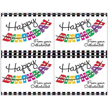 MAP Brand Graphic Image Laser Postcards Happy Birthday, Orthodontist
