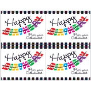 MAP Brand Graphic Image Laser Postcards Happy Birthday, Orthodontist