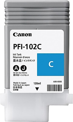 Canon PFI-102C Cyan Ink Cartridge (0896B001)