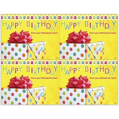MAP Brand Graphic Image Laser Postcards Happy Birthday, Orthodontic, Present
