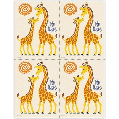 MAP Brand Graphic Image Laser Postcards We Care Giraffes