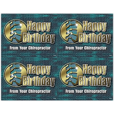 MAP Brand Graphic Image Laser Postcards Birthday, Green & Gold