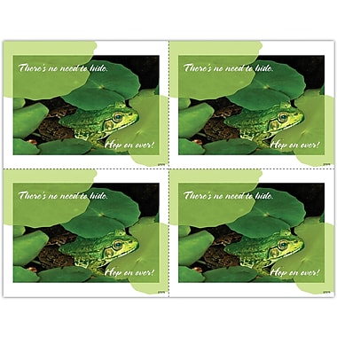 MAP Brand Photo Image Laser Postcards Frog in Lily Pads