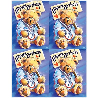 MAP Brand Graphic Image Laser Postcards Doctor Bear, Happy Birthday