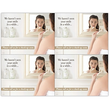 MAP Brand Photo Image Laser Postcards Girl in Mirror