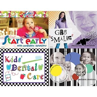 MAP Brand Photo Image Assorted Laser Postcards Start Early, Kids Dental care