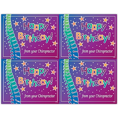 MAP Brand Graphic Image Laser Postcards Stars, Birthday