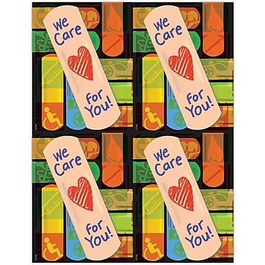MAP Brand Graphic Image Laser Postcards We Care Bandage