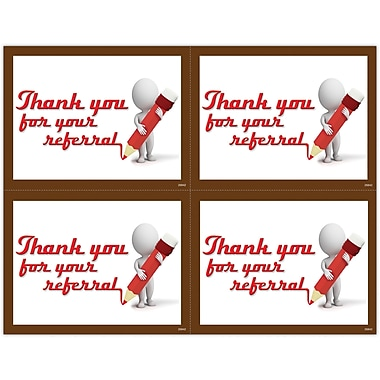 MAP Brand Graphic Image Laser Postcards Clay Guy, Thank You Referral