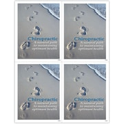 MAP Brand Inspirational Laser Postcards Footprints in Sand
