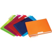 Plastic File Folder Pockets, Letter, Assorted, 5/Pack