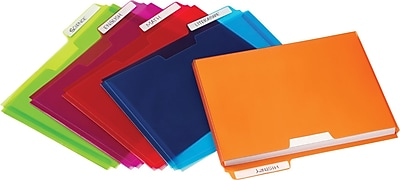 Pendaflex Poly File Pockets, Letter Size, Assorted Colors, 5/Pack (20674)