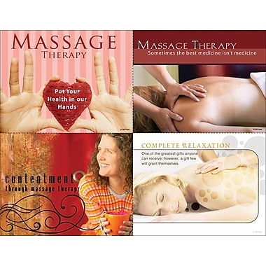 MAP Brand Photo Image Assorted Laser Postcards Massage Therapy, Contentment through massage