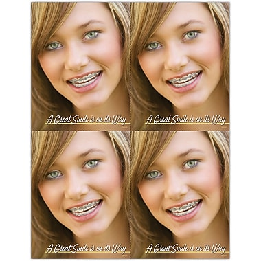 MAP Brand Orthodontia Laser Postcards Great Smile