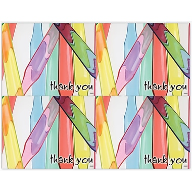 MAP Brand Graphic Image Laser Postcards Thank You, Brush Handles