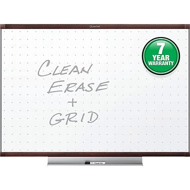 Quartet® Prestige® 2 Total Erase® Whiteboard, 3' x 2', Mahogany Finish Frame (TE543MP2)