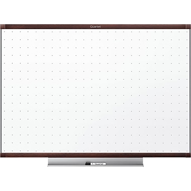 Quartet® Prestige 2® (20163) Non-Magnetic Total Erase Whiteboards, Mahogany Frame, 3' x 2'