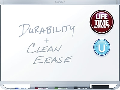 Quartet® Prestige® 2 DuraMax® Porcelain Magnetic Whiteboard, Aluminum Frame, 4'W x 3'H (P554AP2)