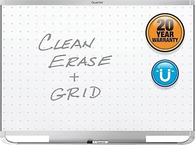 Quartet® Prestige® 2 Total Erase® Magnetic Whiteboard, Silver Aluminum Frame, 3'W x 2'H (TEM543A)