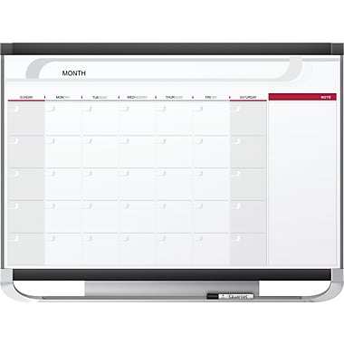 Quartet® Prestige® 2 Magnetic Calendar Board (20128), 1-Month, 36