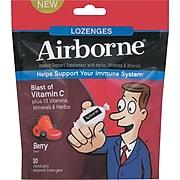 Airborne® Immune Support Supplement Lozenges, Berry, 20 Lozenges/Pack (47865-18591)