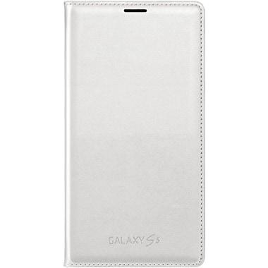 Samsung Galaxy S5 Flip Wallet Phone Case, White