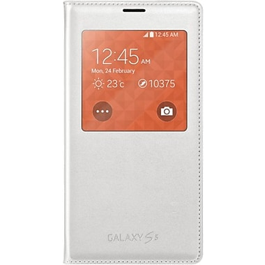 Samsung Galaxy S5 S-View Flip Cover Phone Case, White