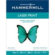 "Hammermill® LaserPrint FSC-Certified Paper, 24 lb., 98 Bright, 8.5"" x 11"""