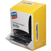 Dixie® Grab'N Go™ Black Medium Weight Polystyrene Individually Wrapped Knives, Black, 90/BX