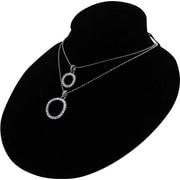 Présentoir de collier oval en velours, noir