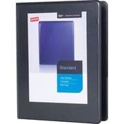 "1/2"" Staples® Standard  5-1/2"" x 8-1/2"" Mini View Binder with Round Rings, Black"