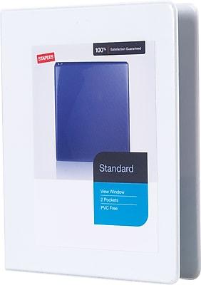 Staples Standard Mini .5-inch 3-Ring View Binder, White (26453-CC)