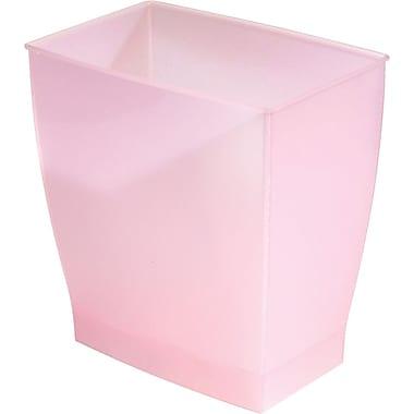 InterDesign® Spa Mono 11 ltr Rectangular Wastecan, Blush Pink