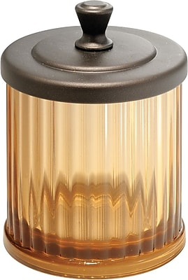 InterDesign® Alston Small Canister, Amber/Bronze