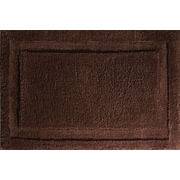 "InterDesign® Spa 34"" x 21"" Microfiber Polyester Bath Rug, Chocolate"
