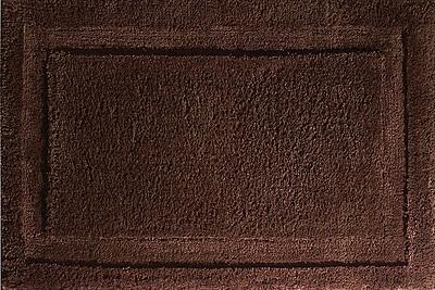 "InterDesign® Spa 34"" x 21"" Microfiber Polyester Bath Rug, Chocolate"