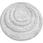 "InterDesign® Spa 24"" Round Microfiber Polyester Bath Rug, White"