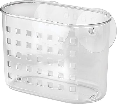 InterDesign Suction Mini Shower Basket, Clear 1003946