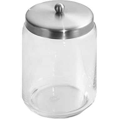 InterDesign® Forma Large Apothecary Jar, Clear/Brushed Stainless Steel