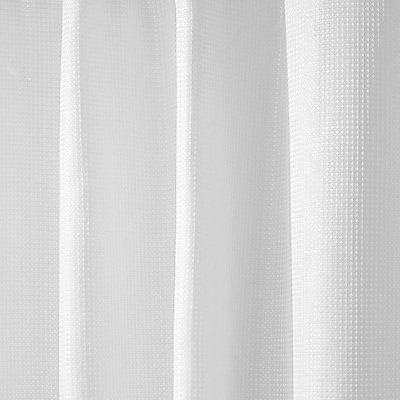 InterDesign® Carlton Fabric Polyester Shower Curtain, White