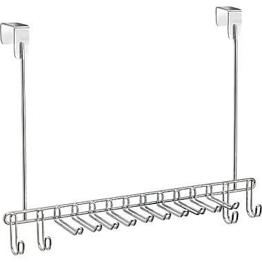InterDesign® Classico Over The Door Tie/Belt Rack, Chrome