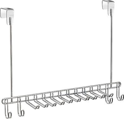InterDesign® Classico Over The Door Tie/Belt Rack, Chrome