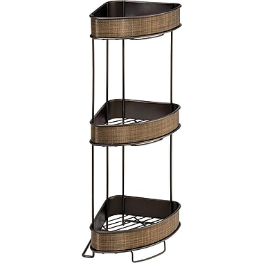 InterDesign® Twillo 3-Tier Steel Corner Shelf, Bronze