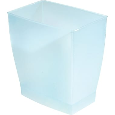 InterDesign® Spa Mono 11 ltr Rectangular Wastecan, Water Blue