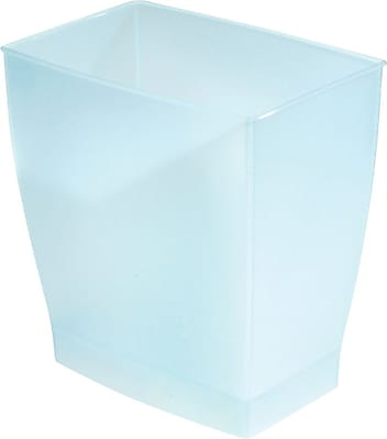 InterDesign® Spa Mono 11 ltr Rectangular Wastecan, Water Blue