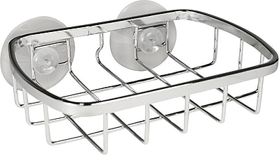 InterDesign® Gia Suction Soap Dish, Polished Stainless Steel