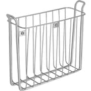 InterDesign® Classico Wallmount Magazine Rack, Silver