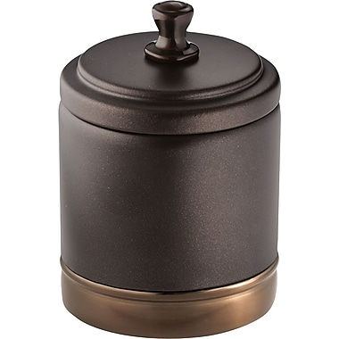 InterDesign® York Metal Canister, Split Bronze